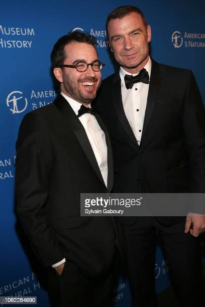 Jonathan Safran Foer and Liev Schreiber attend American Museum Of Natural History's 2018 Museum Gala at American Museum of Natural History on...