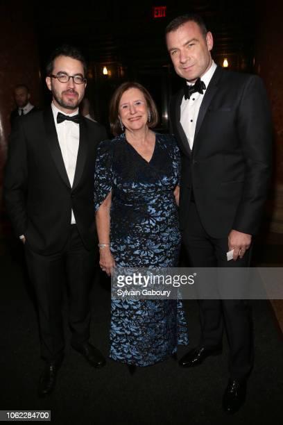 Jonathan Safran Foer Ellen V Futter and Liev Schreiber attend American Museum Of Natural History's 2018 Museum Gala at American Museum of Natural...