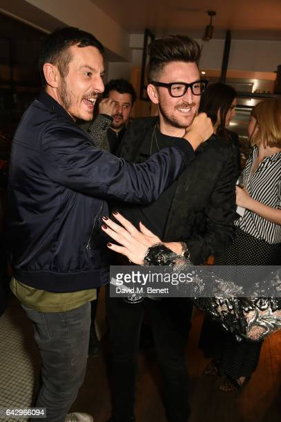 Jonathan Saunders and Henry Holland arrive as Topshop and Leandra Medine host dinner to celebrate London Fashion Week on February 19 2017 in London...