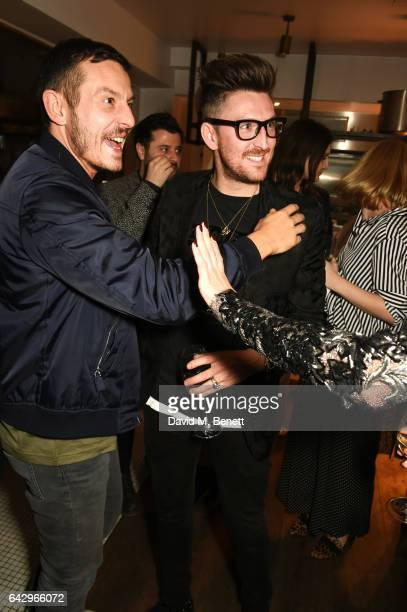 Jonathan Saunders and Henry Holland attend as Topshop and Leandra Medine host dinner to celebrate London Fashion Week on February 19 2017 in London...
