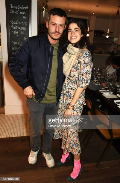 Jonathan Saunders and Leandra Medine arrive as Topshop and Leandra Medine host dinner to celebrate London Fashion Week on February 19 2017 in London...