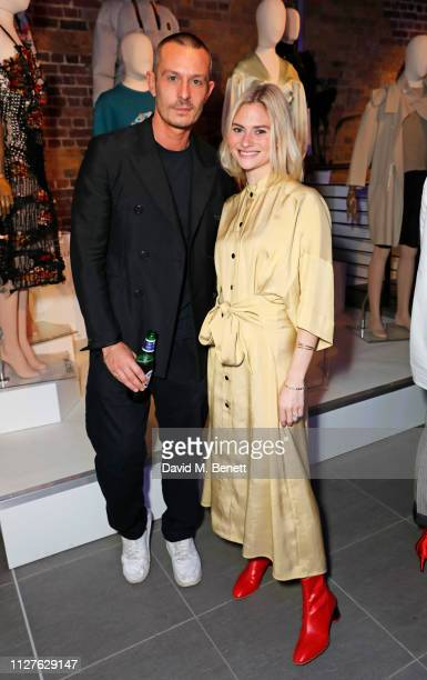 Jonathan Saunders and Pandora Sykes attend the launch of The House Of Peroni on February 26 2019 in London England