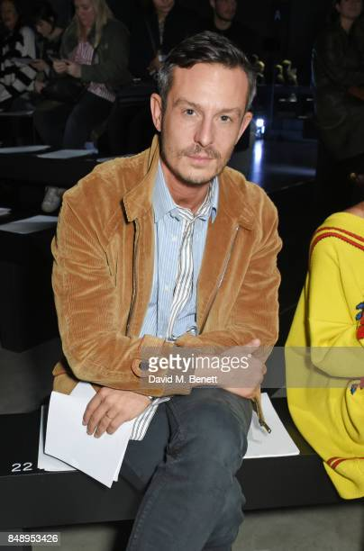 Jonathan Saunders attends the Christopher Kane SS18 catwalk show during London Fashion Week September 2017 at The Tanks at Tate Modern on September...