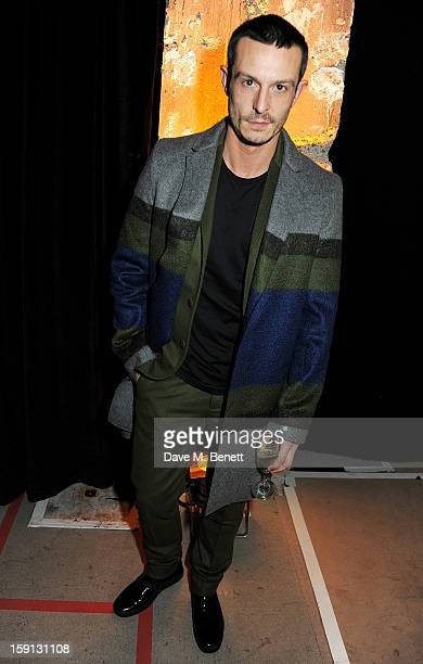 Jonathan Saunders attends the Jonathan Saunders Fantastic Man and Selfridges London Collections MEN AW13 dinner at The Old Selfridges Hotel on...