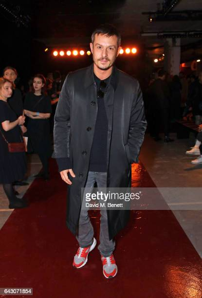 Jonathan Saunders attends the Roksanda show during the London Fashion Week February 2017 collections on February 20 2017 in London England