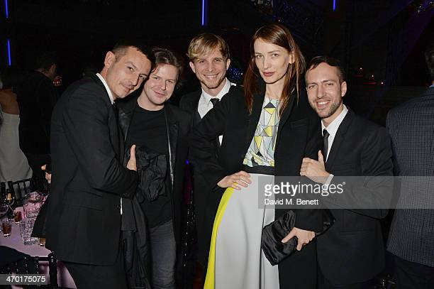 Jonathan Saunders, Christopher Kane, Christopher de Vos, Roksanda Ilincic and Peter Pilotto attend the Elle Style Awards 2014 after party at One...