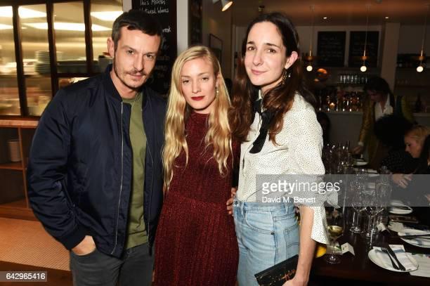 Jonathan Saunders Kate Foley and Serafina Sama arrive as Topshop and Leandra Medine host dinner to celebrate London Fashion Week on February 19 2017...