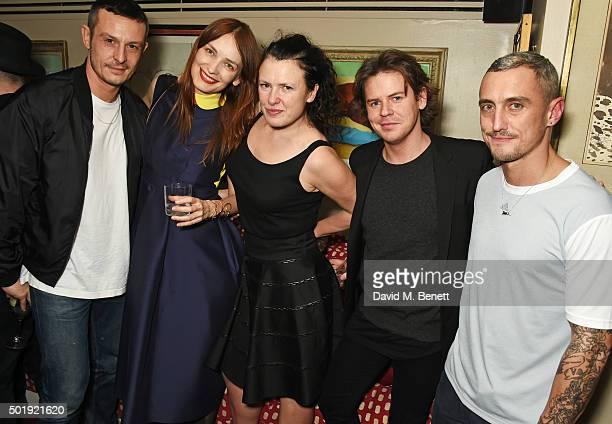 Jonathan Saunders, Roksanda Ilincic, Katie Grand, Christopher Kane and Richard Nicoll attend the LOVE Christmas party at George on December 18, 2015...