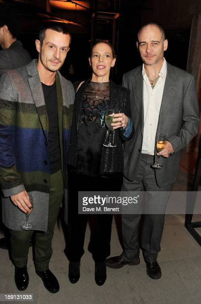 Jonathan Saunders, Tiphaine de Lussy and Dinos Chapman attend the Jonathan Saunders, Fantastic Man and Selfridges London Collections: MEN AW13 dinner...