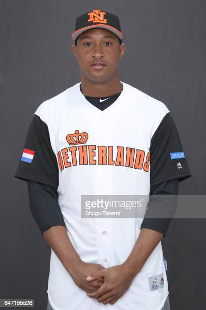 Jonathan Schoop of Team Netherlands poses for a headshot at Gocheok Sky Dome on Wednesday March 1 2017 in Seoul Korea