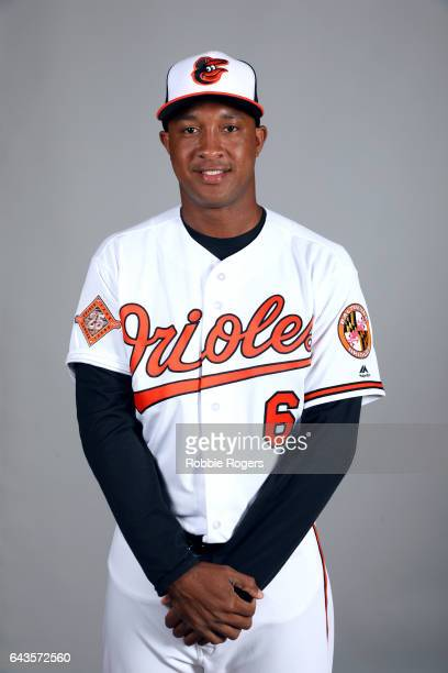 Jonathan Schoop of the Baltimore Orioles poses during Photo Day on Monday February 20 2017 at Ed Smith Stadium in Sarasota Florida