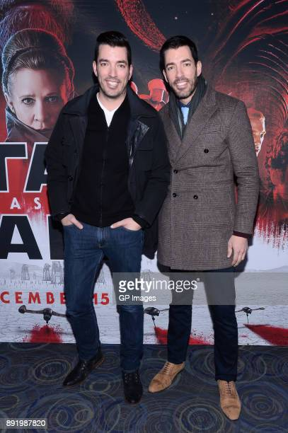 Jonathan Scott and Drew Scott attend the Star Wars The Last Jedi Canadian Premiere held at Scotiabank Theatre on December 13 2017 in Toronto Canada