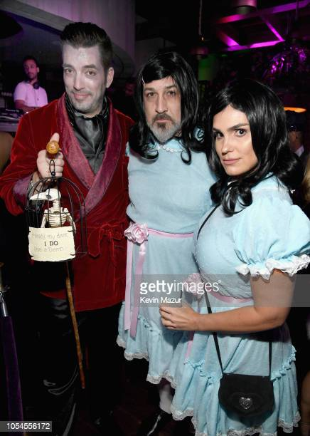 Jonathan Scott Joey Fatone and Izabel Araujo attend Casamigos Halloween party at CATCH Las Vegas at ARIA Resort Casino on October 27 2018 in Las...