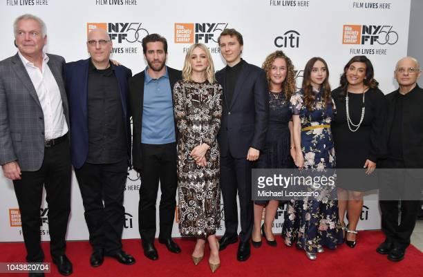 Jonathan Sehring Oren Moverman Jake Gyllenhaal Carey Mulligan Paul Dano Riva Marker Zoe Kazan Alex Saks and David Lang attend the 'Wildlife' premiere...