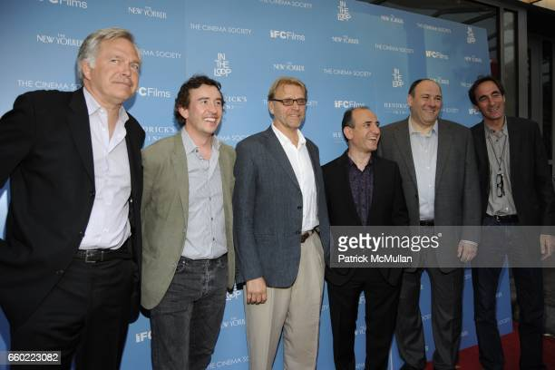 Jonathan Sehring Steve Coogan David Rasche Armando Iannucci James Gandolfini and Guest attend THE CINEMA SOCIETY THE NEW YORKER host a screening of...