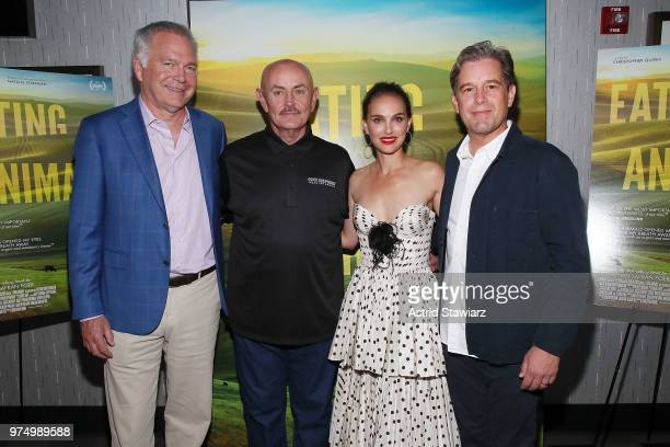 Jonathan Sering Frank Reese Natalie Portman and Christopher Quinn attend 'Eating Animals' New York Screening at IFC Center on June 14 2018 in New...