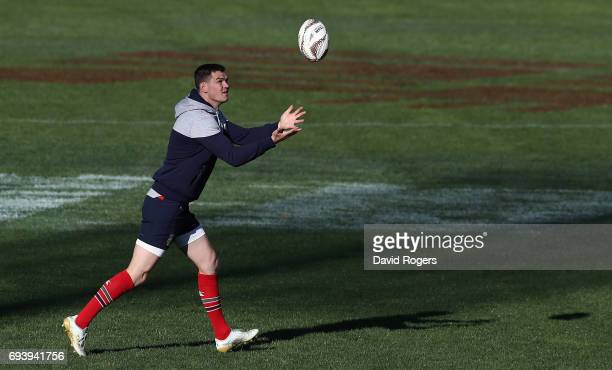 Jonathan Sexton catches the ball during the British Irish Lions kicking session held at Ami Stadium on June 9 2017 in Christchurch New Zealand
