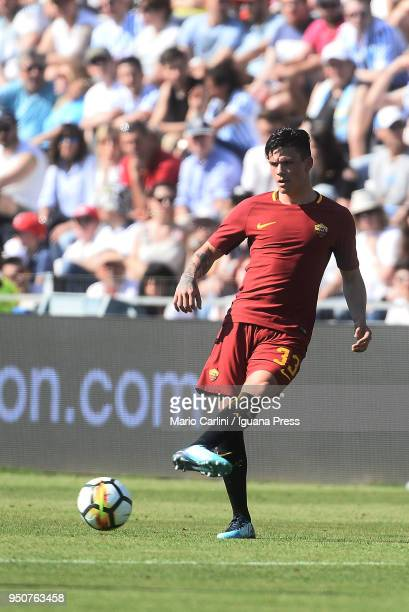 Jonathan Silva of AS Roma in action during the serie A match between Spal and AS Roma at Stadio Paolo Mazza on April 21, 2018 in Ferrara, Italy.