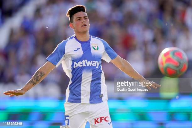 Jonathan Silva of CD Leganes in action during the Liga match between CD Leganes and RCD Mallorca at Estadio Municipal de Butarque on October 26, 2019...