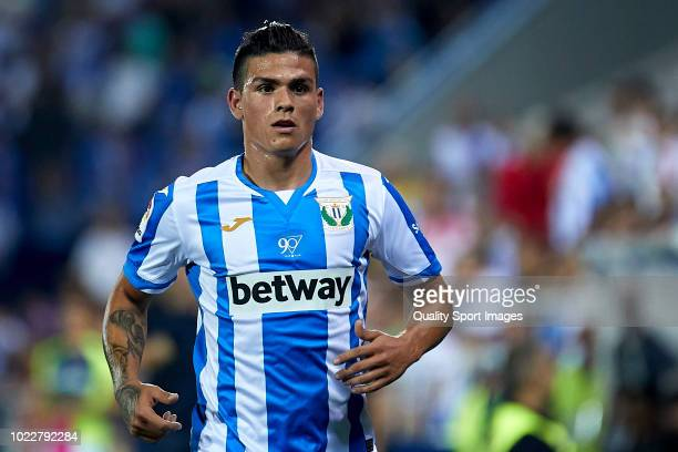 Jonathan Silva of CD Leganes looks on during the La Liga match between CD Leganes and Real Sociedad at Estadio Municipal de Butarque on August 24,...