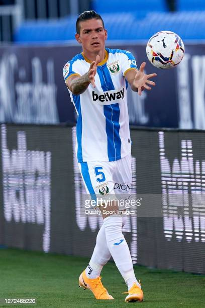Jonathan Silva of CD Leganes looks on during the La Liga Smarrtbank match between CD Leganes and UD at Estadio Municipal de Butarque on September 12,...