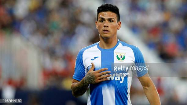 Jonathan Silva of CD Leganes looks on during the Liga match between CD Leganes and CA Osasuna at Estadio Municipal de Butarque on August 18, 2019 in...