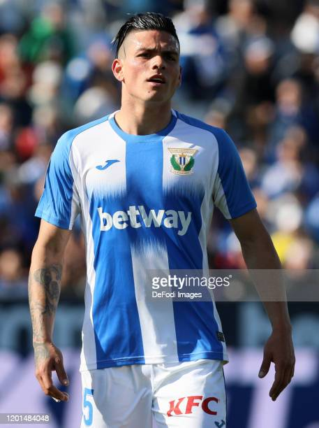 Jonathan Silva of CD Leganes looks on during the Liga match between CD Leganes and Real Betis Balompie at Estadio Municipal de Butarque on February...