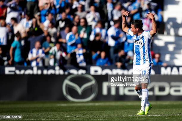 Jonathan Silva of Leganes during the La Liga Santander match between Leganes v Atletico Madrid at the Estadio Municipal de Butarque on November 3...