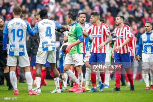 Jonathan Silva of Leganes during the La Liga Santander match between Atletico Madrid v Leganes at the Estadio Wanda Metropolitano on January 26, 2020...
