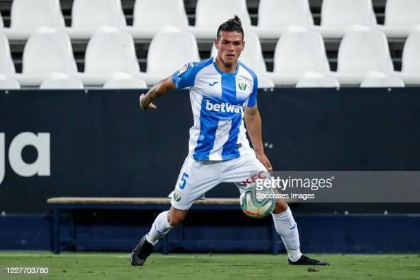 Jonathan Silva of Leganes during the La Liga Santander match between Leganes v Real Madrid at the Estadio Municipal de Butarque on July 19, 2020 in...