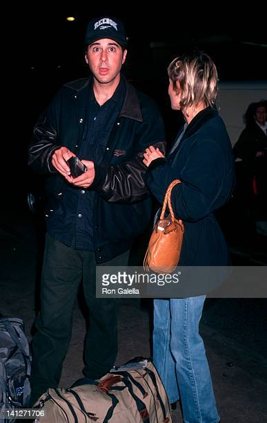 Jonathan Silverman and Anna Lee at Los Angeles International Airport Los Angeles