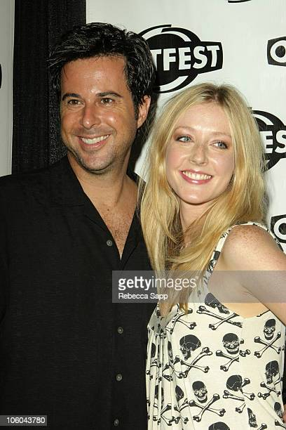 Jonathan Silverman and Jennifer Finnigan during Coffee Date Los Angeles Premiere at Outfest at DGA Theater in Los Angeles California United States