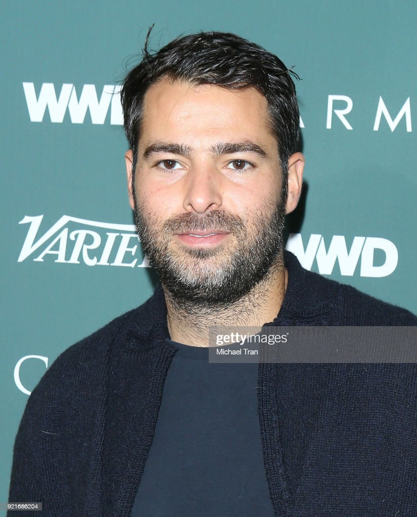 Jonathan Simkhai arrives to the Council of Fashion Designers of America luncheon held at Chateau Marmont on February 20, 2018 in Los Angeles, California.