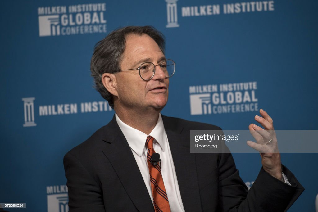 Jonathan Simons, president and chief executive officer of Prostrate Cancer Foundation, speaks during the Milken Institute Global Conference in Beverly Hills, California, U.S., on Wednesday, May 3, 2017. The conference is a unique setting that convenes individuals with the capital, power and influence to move the world forward meet face-to-face with those whose expertise and creativity are reinventing industry, philanthropy and media. Photographer: David Paul Morris/Bloomberg