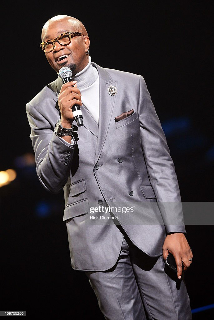 Jonathan Slocomb emcees the 28th Annual Stellar Awards Show at Grand Ole Opry House on January 19, 2013 in Nashville, Tennessee.