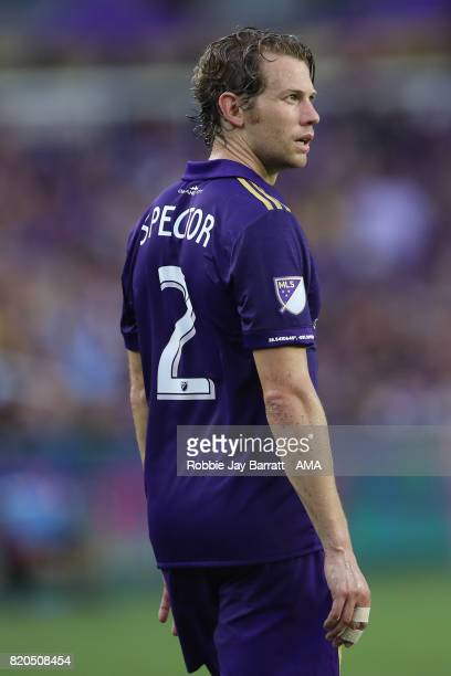 Jonathan Spector of Orlando City during the MLS match between Atlanta United and Orlando City at Orlando City Stadium on July 21 2017 in Orlando...