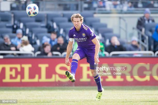 Jonathan Spector of Orlando City in action during the New York City FC Vs Orlando City SC regular season MLS game at Yankee Stadium on March 17 2018...