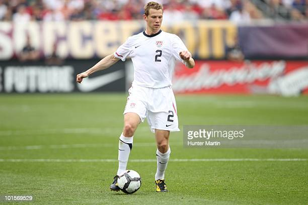 Jonathan Spector of the United States during a preWorld Cup warmup match against Turkey at Lincoln Financial Field on May 29 2010 in Philadelphia...