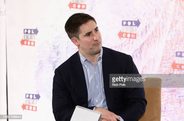 Jonathan Swan speaks onstage during Politicon 2018 at Los Angeles Convention Center on October 21 2018 in Los Angeles California