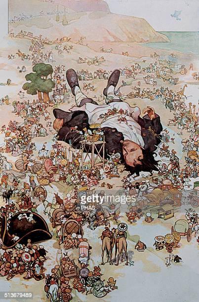 Jonathan Swift AngloIrish satirist essayist political pamphleteer Gulliver's Travels 1726 Illustration by Andre Devambez