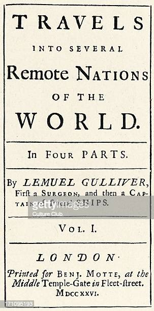 Jonathan Swift 'Gulliver's Travels' title page first edition 1726