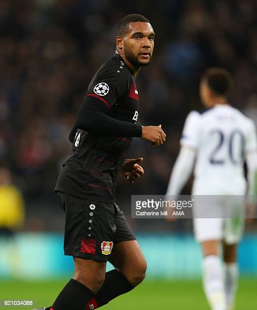 Jonathan Tah of Bayer Leverkusen during the UEFA Champions League match between Tottenham Hotspur FC and Bayer 04 Leverkusen at Wembley Stadium on...