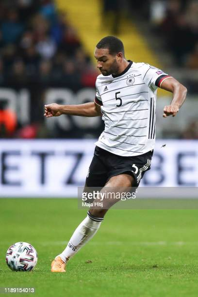 Jonathan Tah of Germany controls the ball during the UEFA Euro 2020 Qualifier between Germany and Northern Ireland at Commerzbank Arena on November...