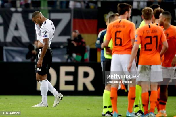 Jonathan Tah of Germany during the EURO Qualifier match between Germany v Holland at the Volkspark Stadium on September 6 2019 in Hamburg Germany