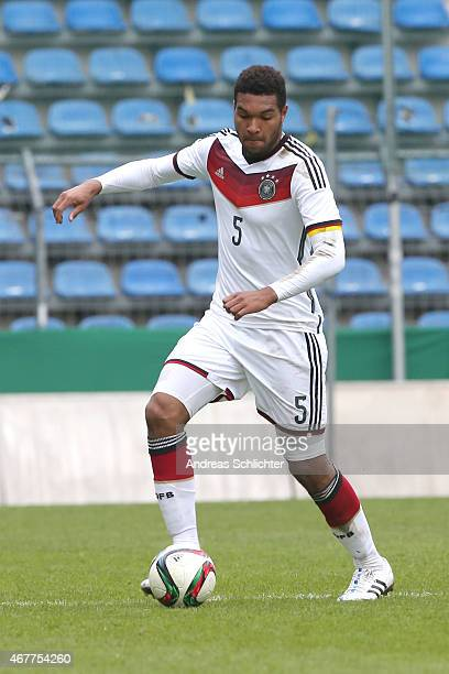 Jonathan Tah of Germany , during the UEFA Under19 Elite Round match between U19 Germany and U19 Slovakia at Carl-Benz-Stadium on March 26, 2015 in...