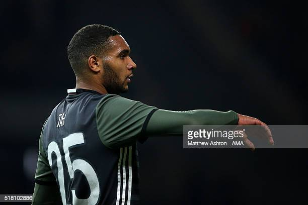 Jonathan Tah of Germany gestures during the International Friendly match between Germany and England at Olympiastadion on March 26 2016 in Berlin...