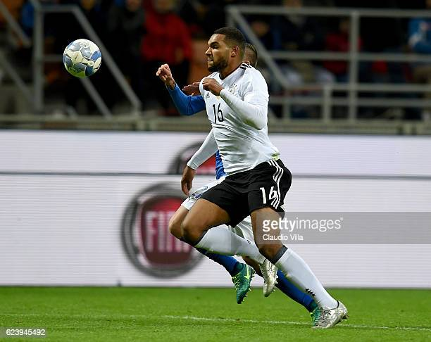 Jonathan Tah of Germany in action during the International Friendly Match between Italy and Germany at Giuseppe Meazza Stadium on November 15 2016 in...