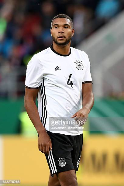 Jonathan Tah of Germany looks on during the 2017 UEFA European U21 Championships Qualifier between Germany and Russia at Audi Sportpark on October 7...