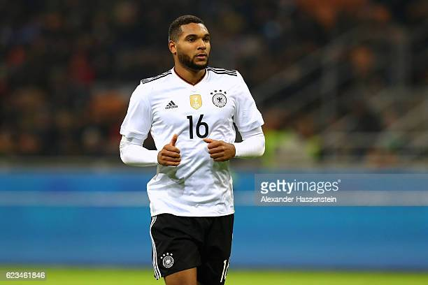 Jonathan Tah of Germany looks on during the International Friendly Match between Italy and Germany at Giuseppe Meazza Stadium on November 15 2016 in...