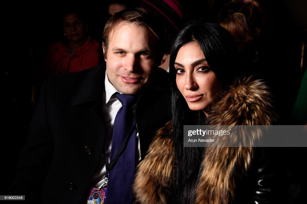 Jonathan Tara and Ro-Mina attend presentations at New York Fashion Week Powered by Art Hearts Fashion NYFW at The Angel Orensanz Foundation on February 8, 2018 in New York City.